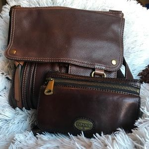 Fossil Morgan Traveler with matching wallet